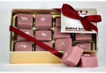 Salted Caramel Fudge in Ruby Chocolate